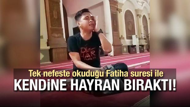 Tek Nefeste Okuduğu Fatiha Suresi İle Kendine Hayran Bıraktı