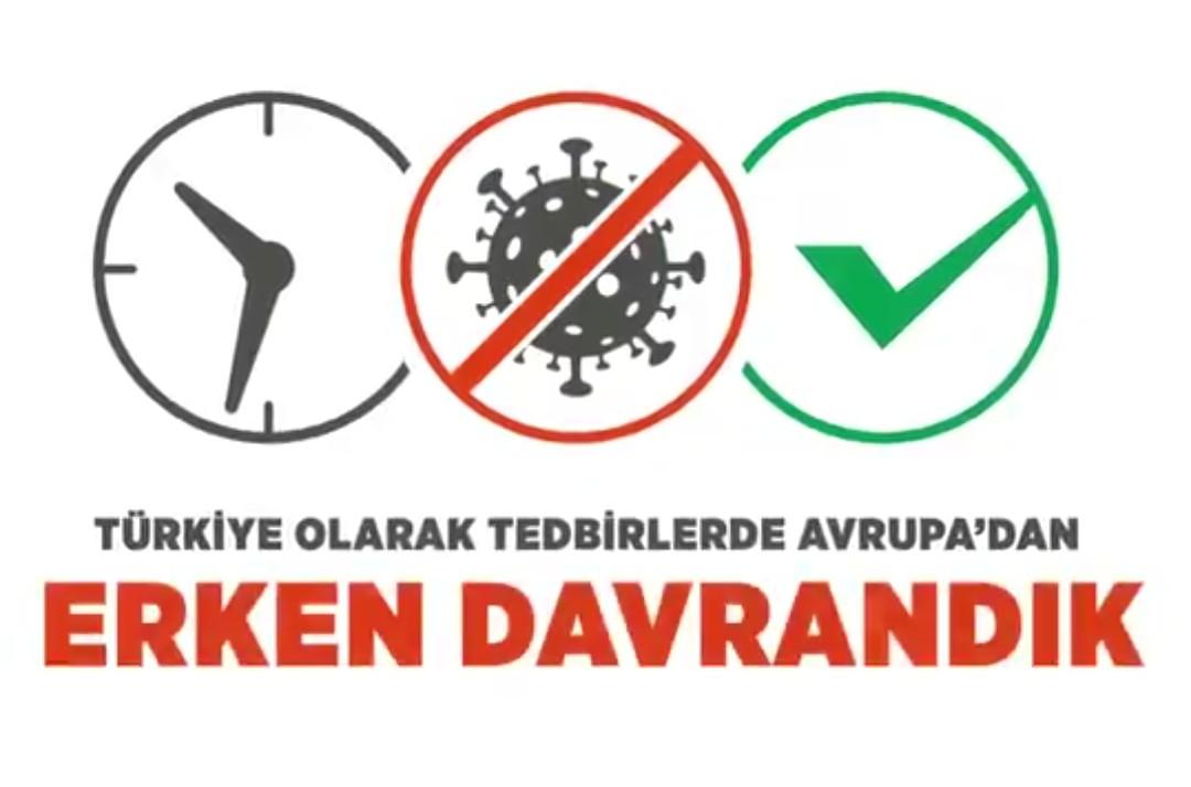 Türkiye Olarak Tedbirlerde Avrupa'dan Erken Davrandık!