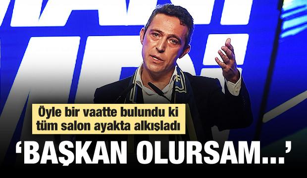 Ali Koç'un Seçim Vaadi Salonu Coşturdu!