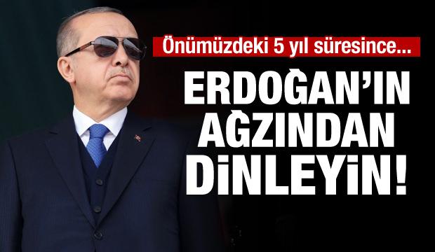 Cumhurbaşkanı Erdoğan: Tarihi şanlı zaferlerle dolu bu asil milletin hakkını...