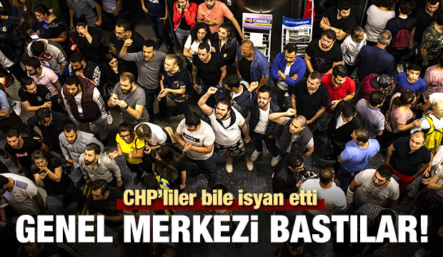 CHP Genel Merkezi'nde protesto