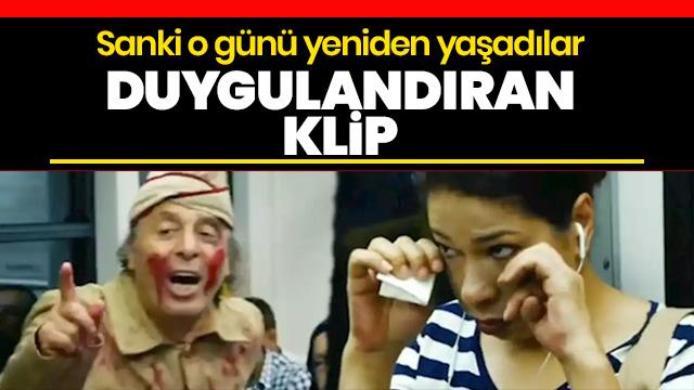 Bursa metrosunda tiyatro oyuncularının 30 Ağustos canlandırması yolcuları gözyaşlarına boğdu!