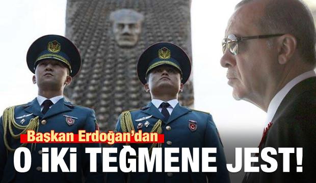 Cumhurbaşkanı Erdoğan'dan Kırgız Teğmenlere Jest