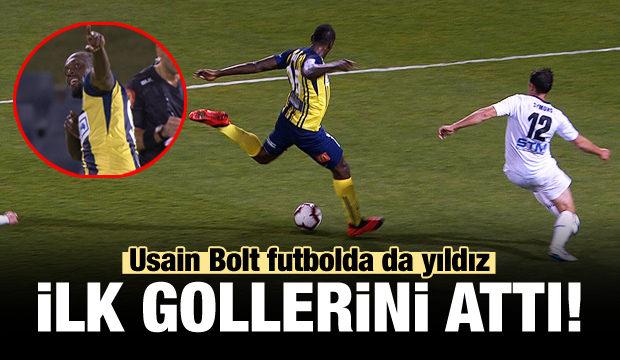 Usain Bolt'tan iki gol birden!