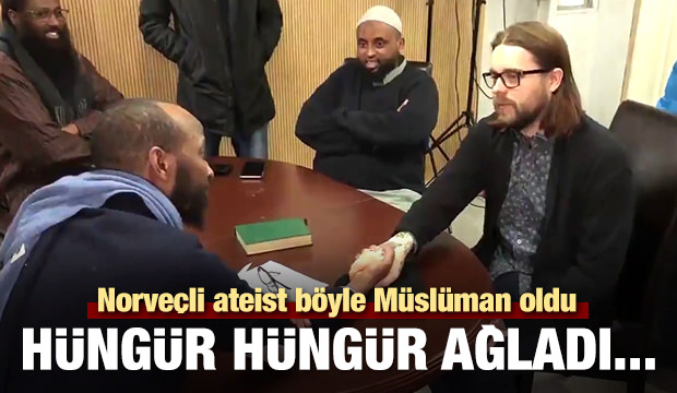 Norveçli Ateist Müslüman Oldu, Gözyaşlarını Tutamadı!