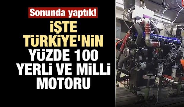 İşte Türkiye'nin Yüzde 100 Yerli Motoru