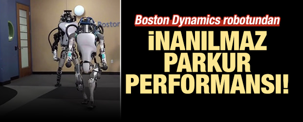 Boston Dynamics robotundan inanılmaz performans!